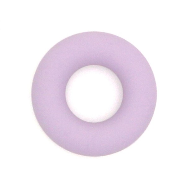 Anneau Dentition Silicone Donut 43mm Violet Clair , Creation Attache Tetine - Photo n°1
