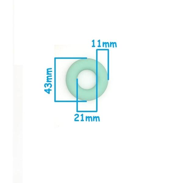 Anneau Dentition Silicone Donut 43mm Vert Tilleul , Creation Attache Tetine - Photo n°2
