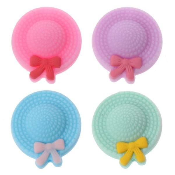 Perle Silicone Mini Chapeau 25mm Rose , Creation Attache Tetine - Photo n°2