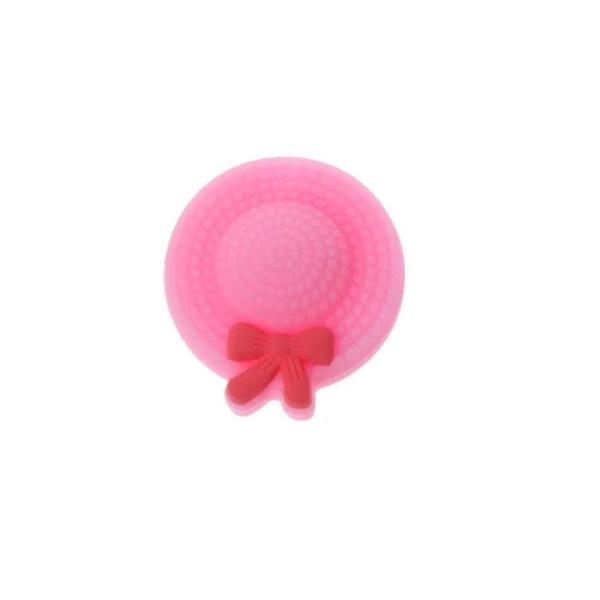 Perle Silicone Mini Chapeau 25mm Rose , Creation Attache Tetine - Photo n°1