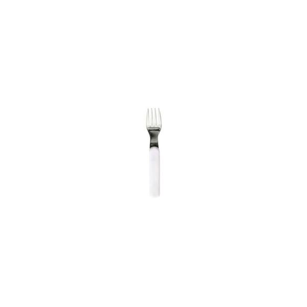 Fourchette Inox Manche blanc - Plastorex - Photo n°1