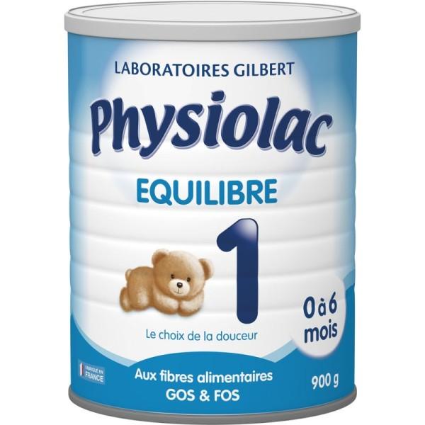 Physiolac Equilibre 1 - lot de 6 boites de 900g - Photo n°1