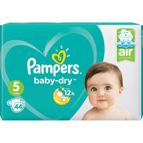 Pampers couches baby dry  Taille 5  - 3 paquets de 44 couches - Photo n°1