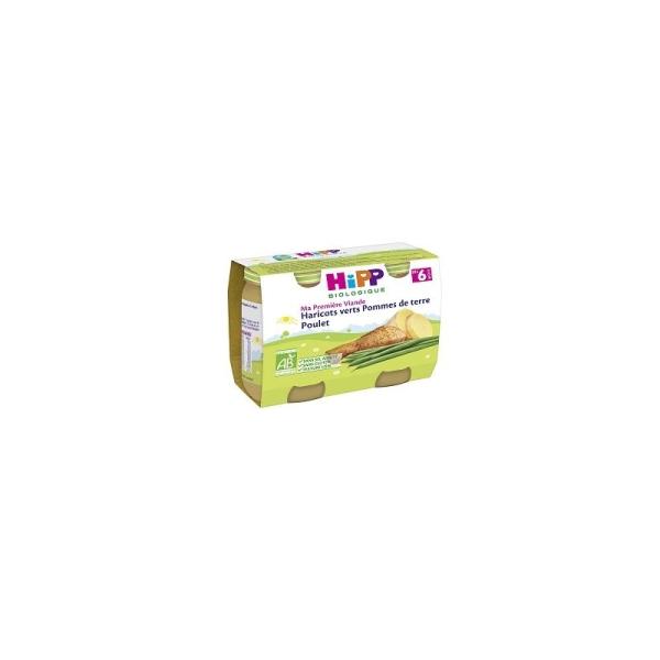 Ma Première Viande Haricots verts Pommes de Terre Poulet - 12 packs de 2 pots - Hipp Biologique - Photo n°1