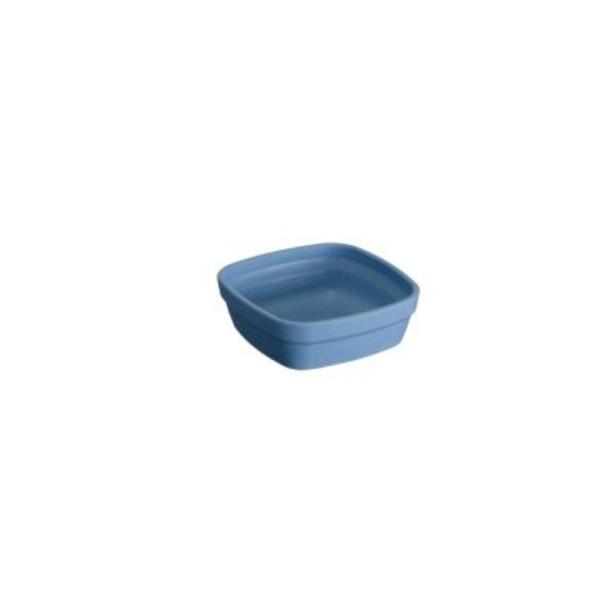 Ravier carré en matière végétale 25 cl bleu - Lilitouch - Photo n°1