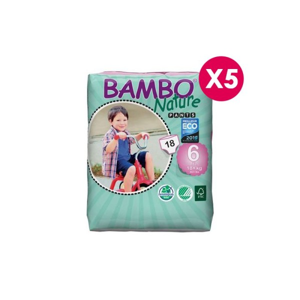 Pants Bambo Nature XL T6 - 18+ kg - 5 paquets de 18 - Photo n°1