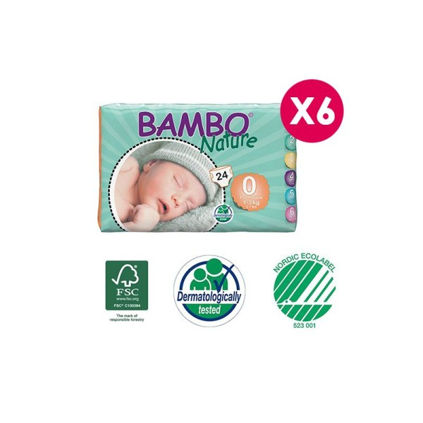 Couches Bambo Nature Premature T0 - 1/3 kg - Photo n°1