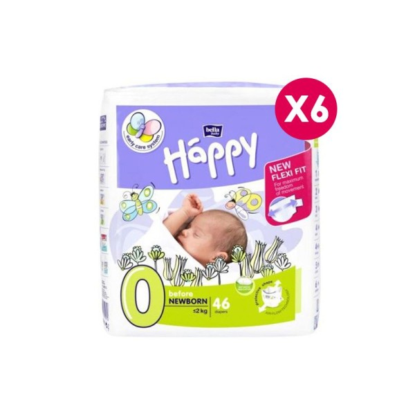 Couches écologiques Happy Taille 0 - 2kg - Photo n°1