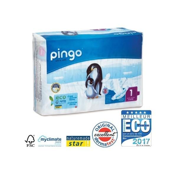 Couches écologiques Pingo Newborn Taille 1 - 2/5 Kg - 1 paquet - Photo n°1