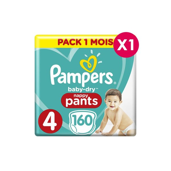 Culottes d'apprentissage Pampers Taille 4 - pack 1 mois - Photo n°1