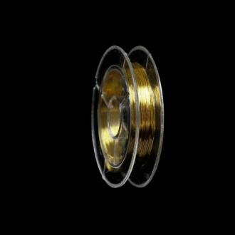 Fil Cuivré 0.3mm Couleur Or Doré, Bobine De 10 Mètres