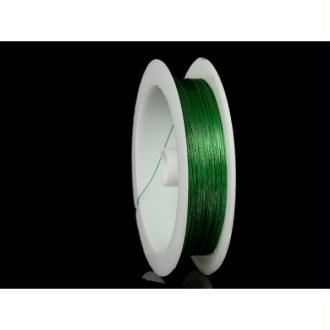 Fil Cuivré 0.3mm Couleur Vert, Bobine De 23 Mètres