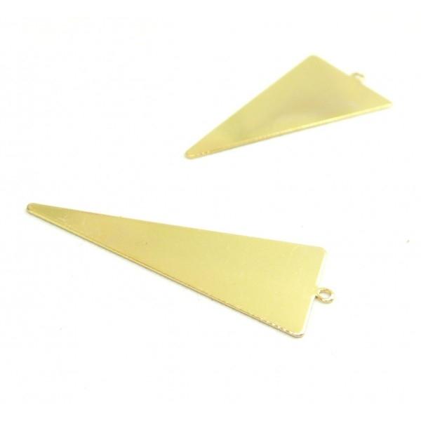 170929160110 PAX 4 pendentifs Grand Triangle 42,5mm qualité Laiton Couleur Doré - Photo n°1