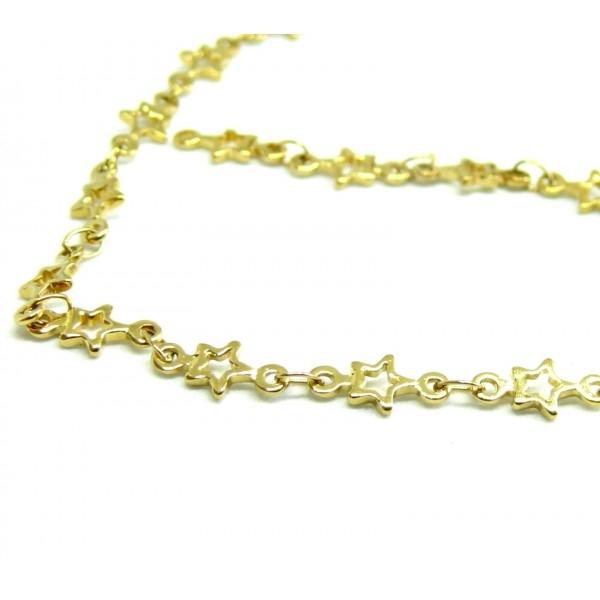 50 cm de Chaine Etoiles laiton Coloris Doré 190129135754 - Photo n°2