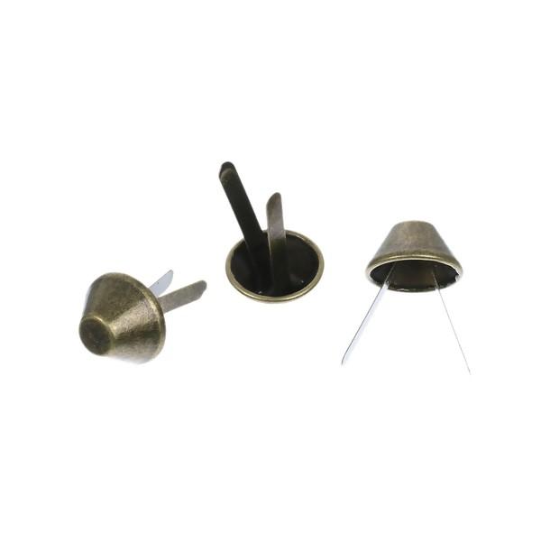 S1177519 PAX 50 attaches parisiennes ou Brads 15mm rond Metal couleur Bronze - Photo n°1