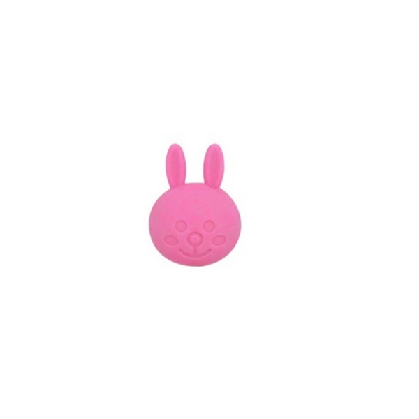 Perle Silicone Lapin 31mm x 23mm Rose,Creation bijoux - Photo n°1