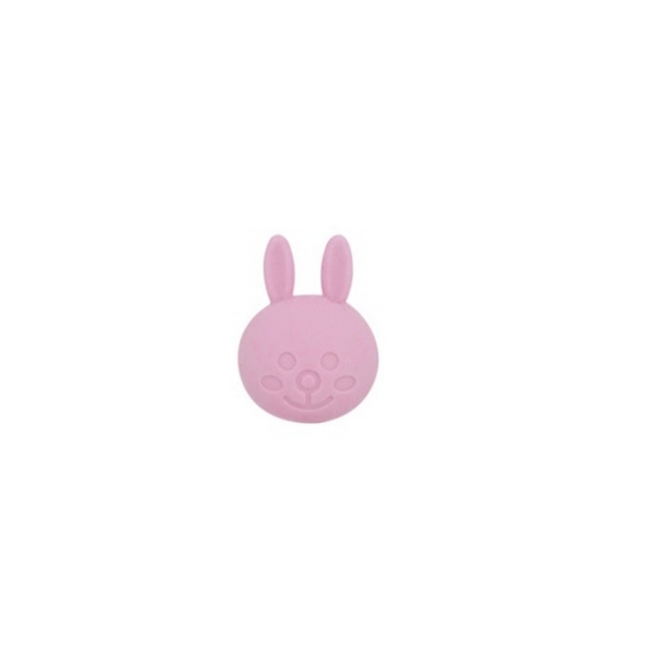 Perle Silicone Lapin 31mm x 23mm Rose Clair,Creation bijoux - Photo n°1