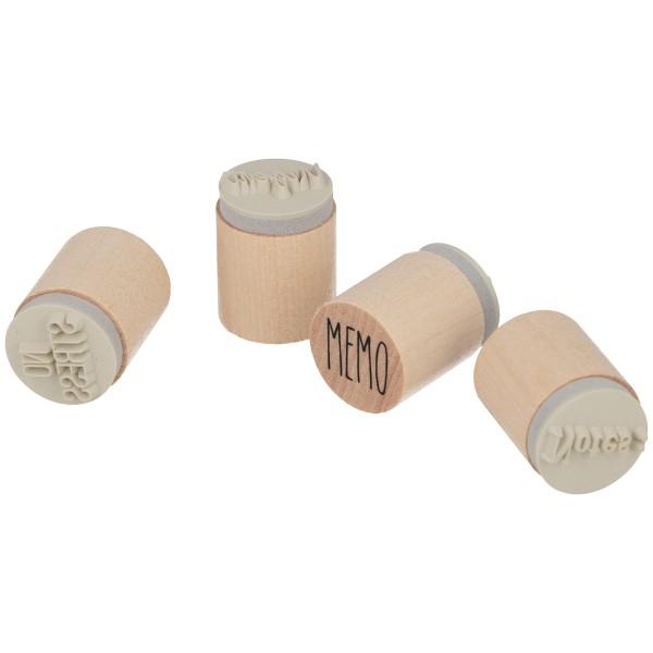 Set de tampons bois - Planner - 20 x 25 mm - 4 pcs - Photo n°1