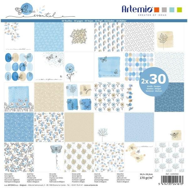 Papier Scrapbooking Artemio - Collection Mon essentiel - 30,5 x 30,5 cm - 60 pcs - Photo n°1