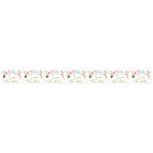 Stickers Timbre Artemio Collection On se marie - Save the date - 25 x 33 mm - 80 pcs - Photo n°2