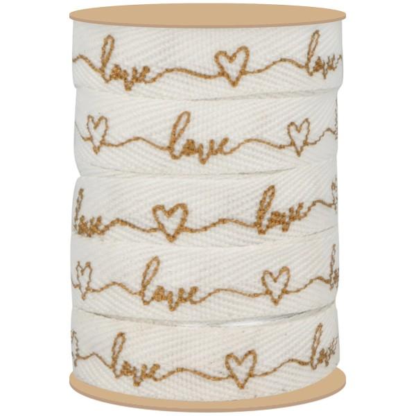 Ruban fantaisie Artemio Collection On se marie - Love - 1 x 5 m - Photo n°2