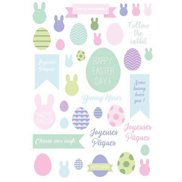Décalcomanies Artemio - Collection Easter Mood - Pâques - 1 feuille - Photo n°2