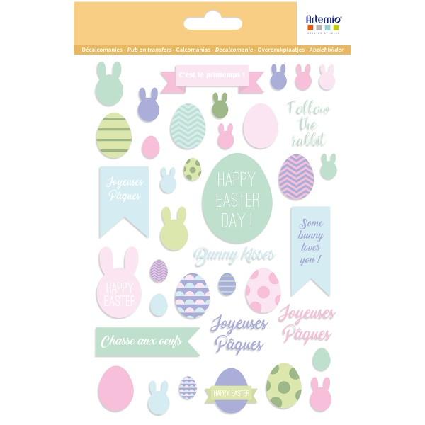 Décalcomanies Artemio - Collection Easter Mood - Pâques - 1 feuille - Photo n°1