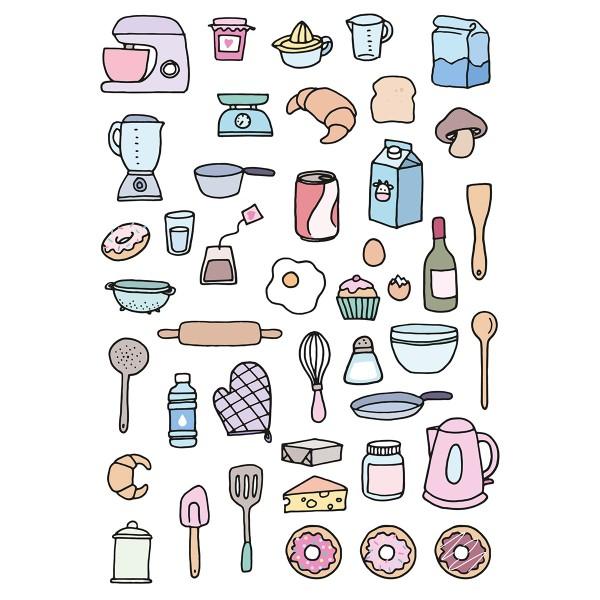 Décalcomanies Artemio - Collection Planner - Cuisine - 1 feuille - Photo n°2
