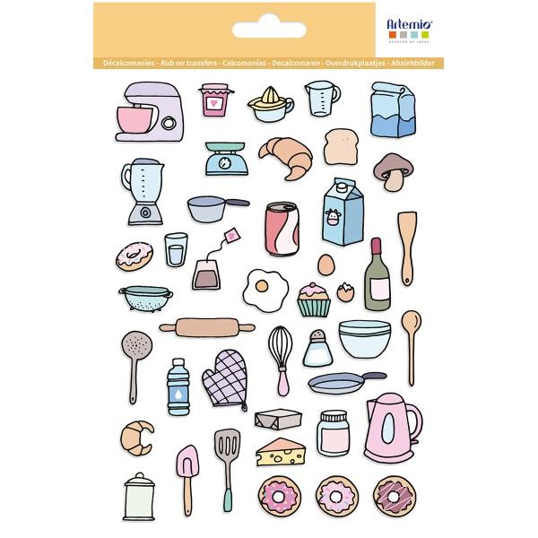 Décalcomanies Artemio - Collection Planner - Cuisine - 1 feuille - Photo n°1
