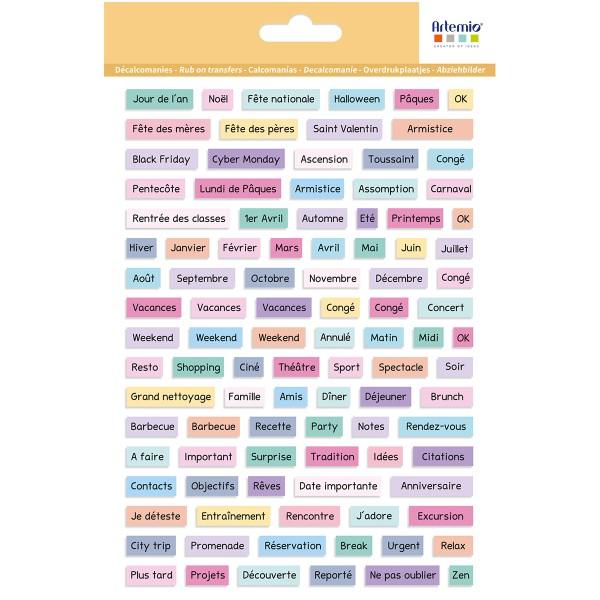Décalcomanies Artemio - Collection Planner - Événements - 1 feuille - Photo n°1