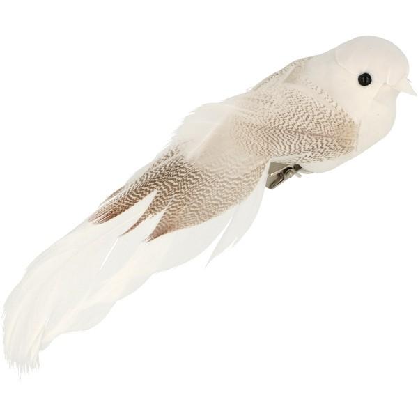 Oiseaux décoratifs blancs - 13 x 3,5 cm - 6 pcs - Photo n°2