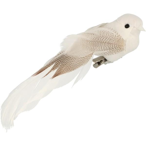 Oiseaux décoratifs blancs - 13 x 3,5 cm - 6 pcs - Photo n°3