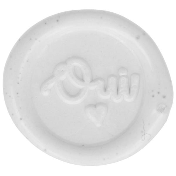 Cachet de cire à coller - 20 mm - Oui - Blanc - 10 pcs - Photo n°1