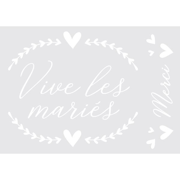 Transfert Textile Thermocollant Artemio - Vive les mariés - 1 feuille - Photo n°2