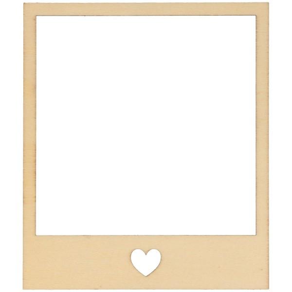 Cadres photobooth en bois à décorer - 10,5 x 9 cm - 5 pcs - Photo n°2