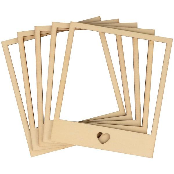 Cadres photobooth en bois à décorer - 10,5 x 9 cm - 5 pcs - Photo n°3