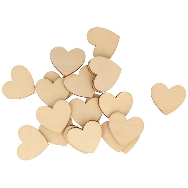 Formes en bois à décorer - Coeur - de 8 à 3 cm - 40 pcs - Photo n°4