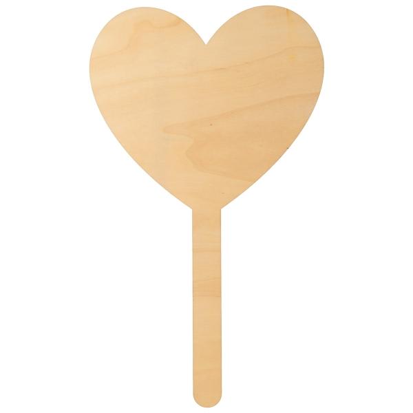Pancartes jeu mariage - Coeur en bois - 27 x 16 cm - 2 pcs - Photo n°2