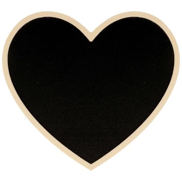 Tableau ardoise décoratif - Coeur - 15 x 13,5 cm - Photo n°1