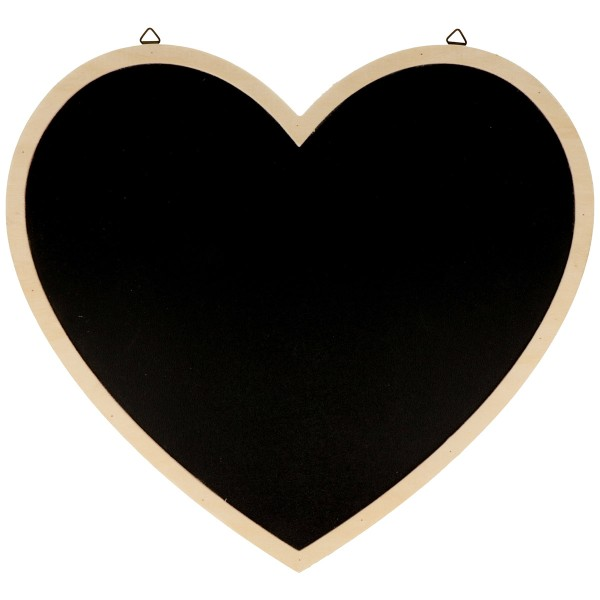 Tableau ardoise décoratif - Coeur - 30 x 27 cm - Photo n°1