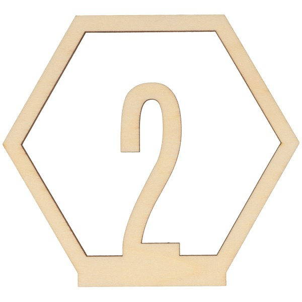 Numéros de table en bois - 1 à 15 - 10,5 cm - 15pcs - Photo n°2
