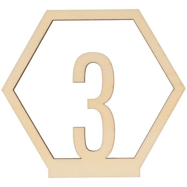 Numéros de table en bois - 1 à 15 - 10,5 cm - 15pcs - Photo n°3