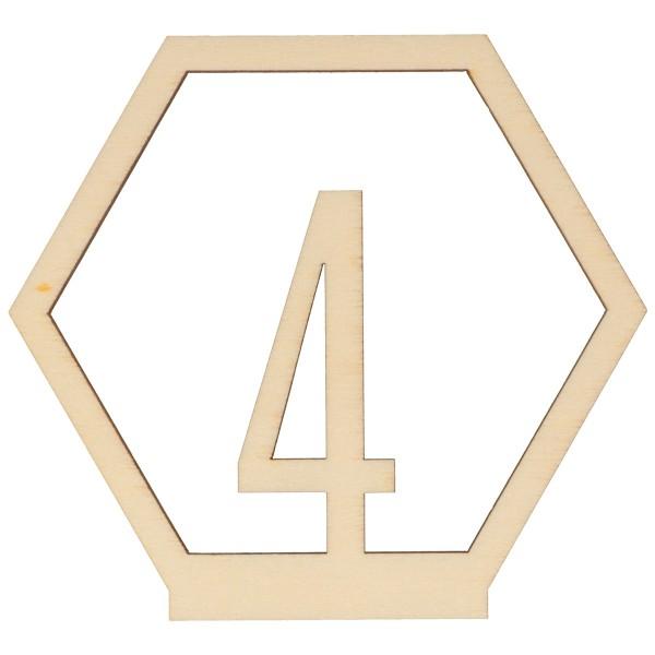 Numéros de table en bois - 1 à 15 - 10,5 cm - 15pcs - Photo n°4
