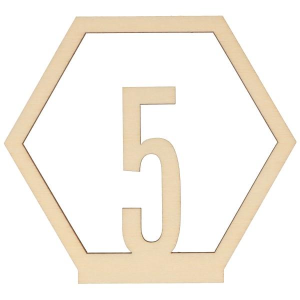 Numéros de table en bois - 1 à 15 - 10,5 cm - 15pcs - Photo n°5