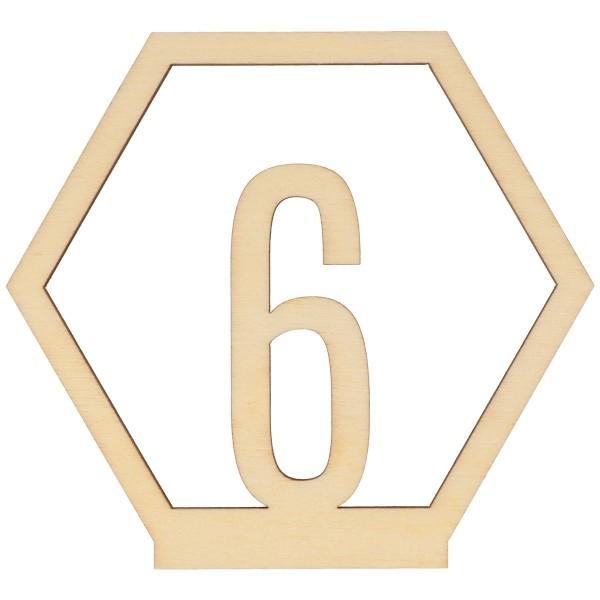 Numéros de table en bois - 1 à 15 - 10,5 cm - 15pcs - Photo n°6