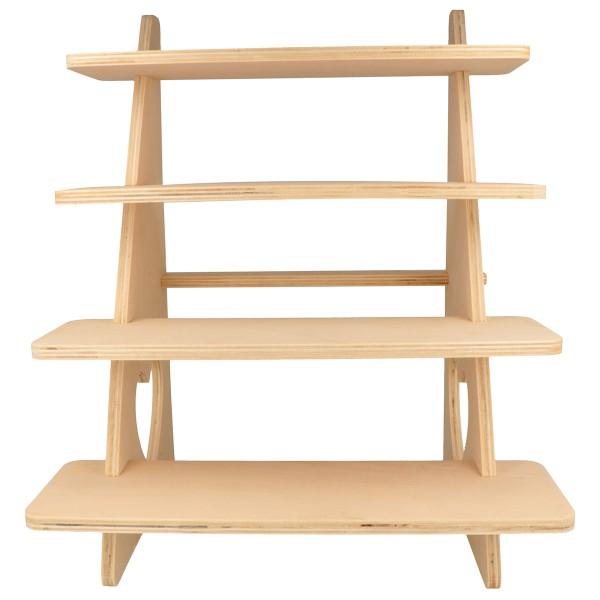 Présentoir à étagères en bois - Coeur - 38 x 32 x 26 cm - Photo n°2