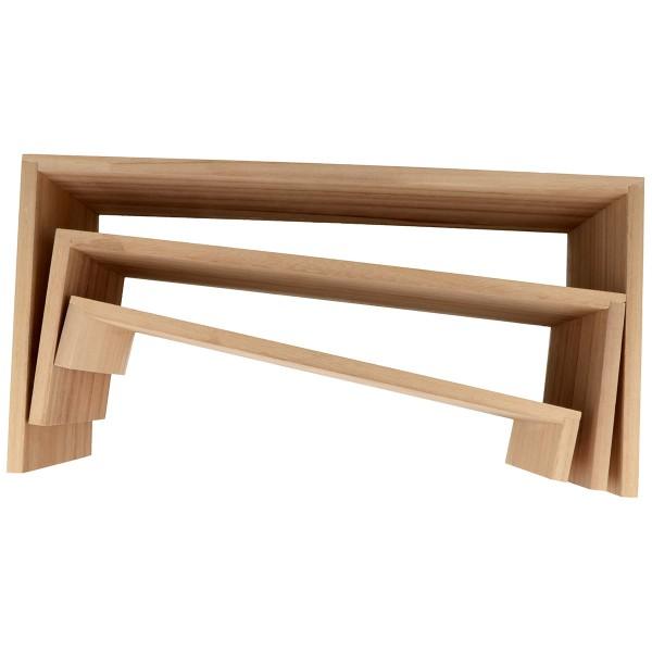 Présentoir à étagères gigognes en bois - 35 à 29 cm - 3 pcs - Photo n°3