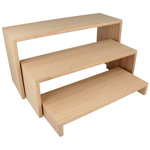 Présentoir à étagères gigognes en bois - 35 à 29 cm - 3 pcs - Photo n°1