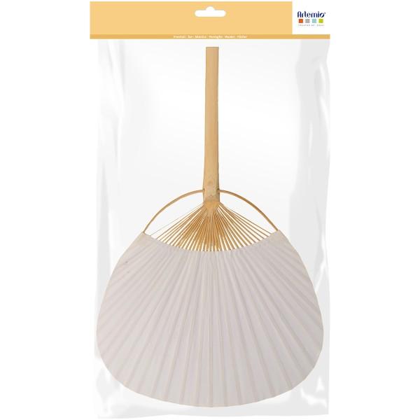 Éventail en bambou et papier à décorer - 37 cm - Photo n°1