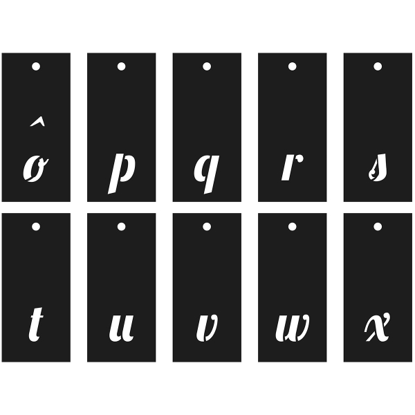Pochoirs Multi-usage - Alphabet, Chiffres et symboles - Police Lobster - 70 pcs - Photo n°6